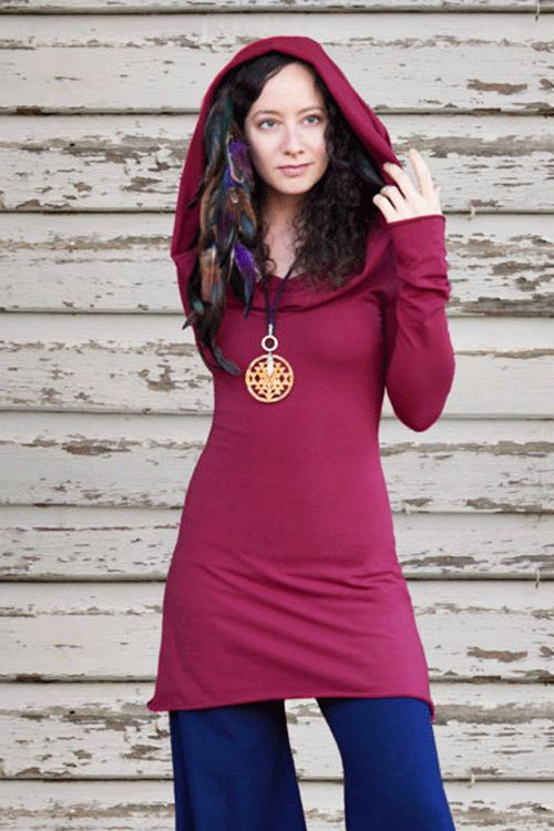 .Long Sleeve Hooded Dress