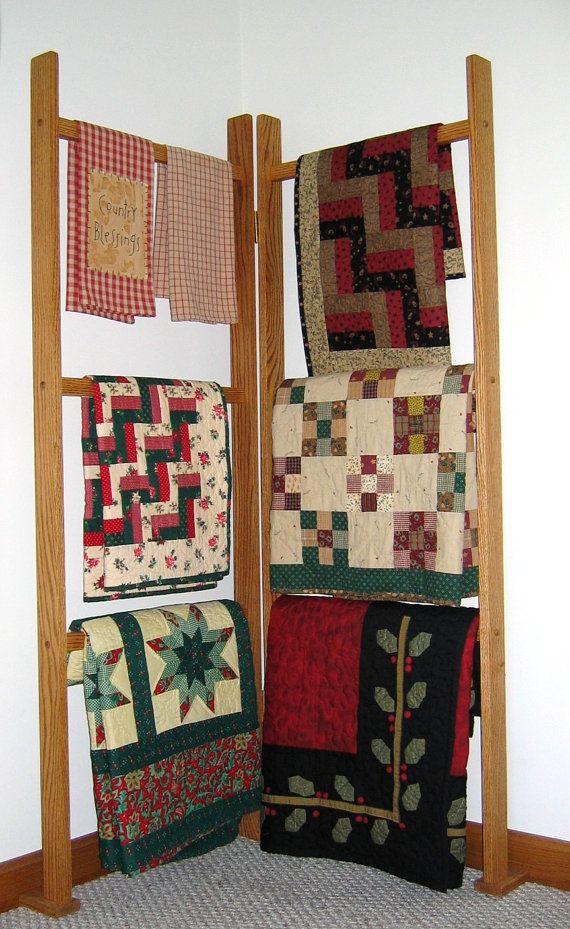 Corner Quilt Rack on Etsy, $59.00