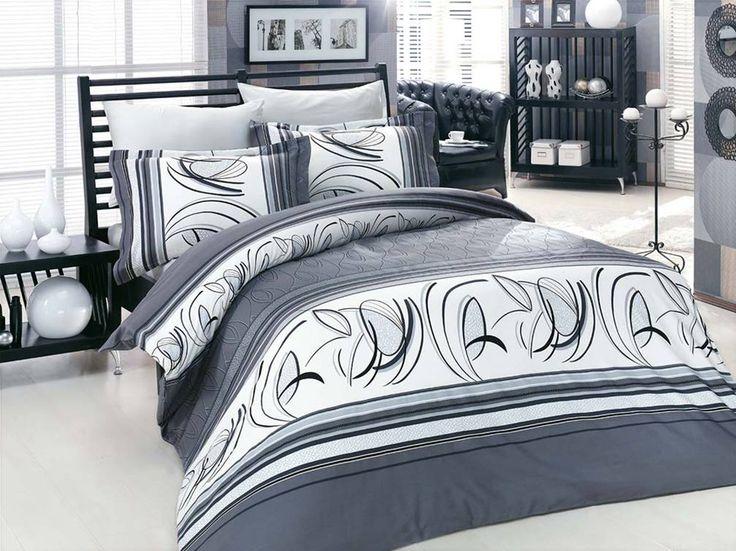 Pościel satynowa Valentini Bianco Limited Edition RIXOS SZARY, 160x200 + 2x 70x80 cm oraz 220x200 + 2x70x80 cm, 100% bawełna.