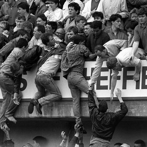 Ninety-six Liverpool football fans died in the crush as supporters tried to enter the Hillsborough stadium in Sheffield for an FA Cup semi-final on April 15 1989.