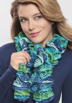 Free Project! Loom Knit Ruffle Scarf: Craft this lovely scarf with Boye