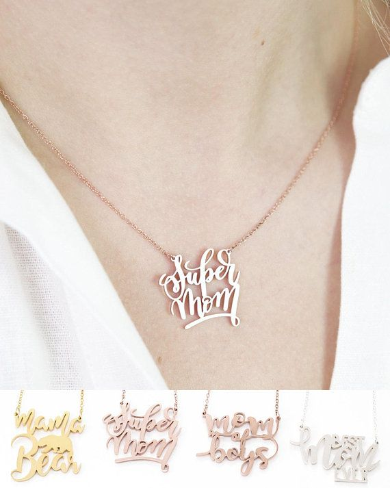 b31bf536d Mother's Day Necklace Motherhood Necklace Gift Ideas | Caitlyn Minimalist |  Custom name necklace, Necklace designs, Name bracelet