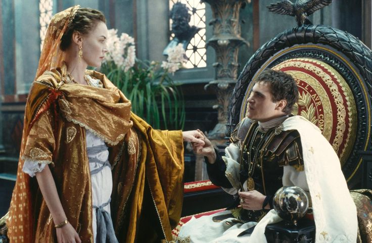 """Connie Nielsen as Lucilla and Joaquin Phoenix as Emperor Commodus in """"Gladiator"""", movie, 2000."""