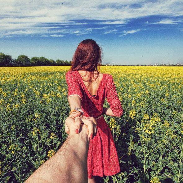 Follow me. Ensaio fotográfico super romântico