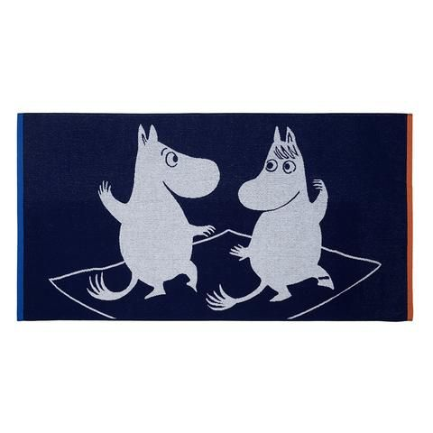 Magic Moomin bath towel blue