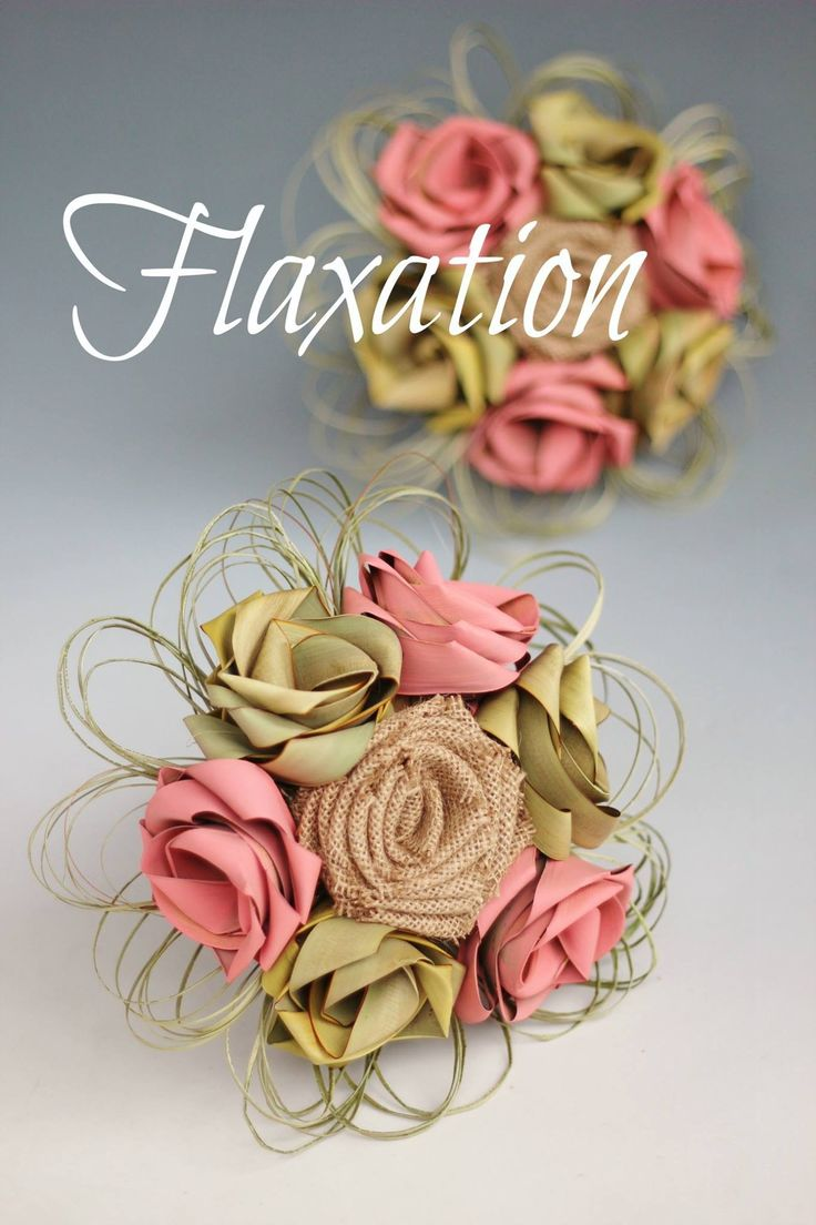 Rustic country bouquets in hessian/burlap & flax. www.flaxation.co.nz