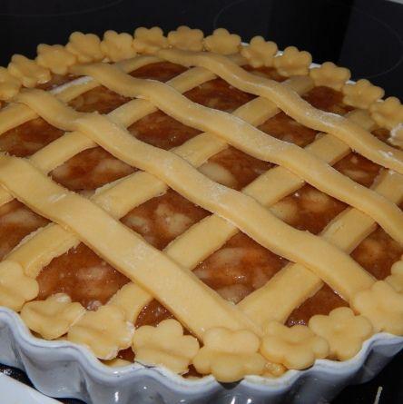 Rácsos almás pite recept