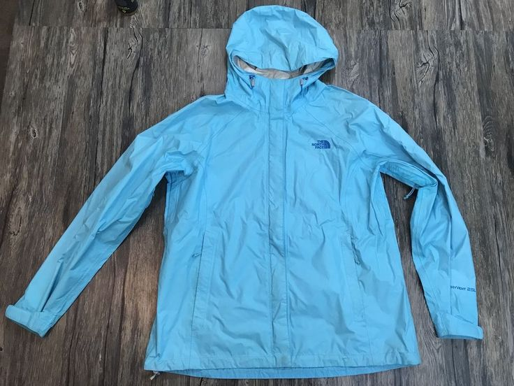 The North Face Jacket Hyvent 2.5L Rain Outdoors Blue Womens XL 36F  | eBay
