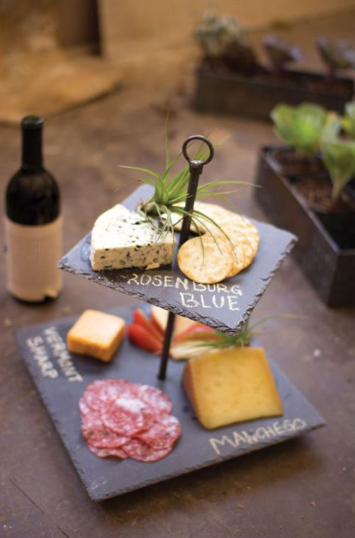Cheese Tray Idea (or make one yourself with slate tiles!)