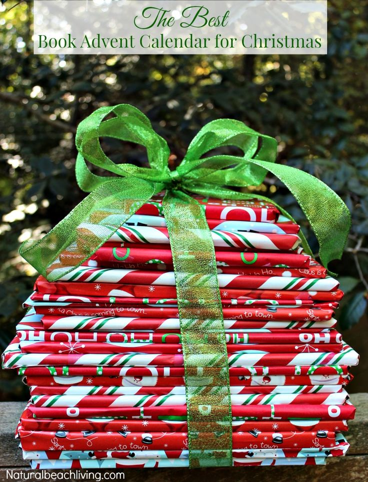 The Best Book Advent Calendar for Christmas, Wrap 25 books for a wonderful countdown to Christmas idea, Family traditions, growing readers, and Great Books #christmas