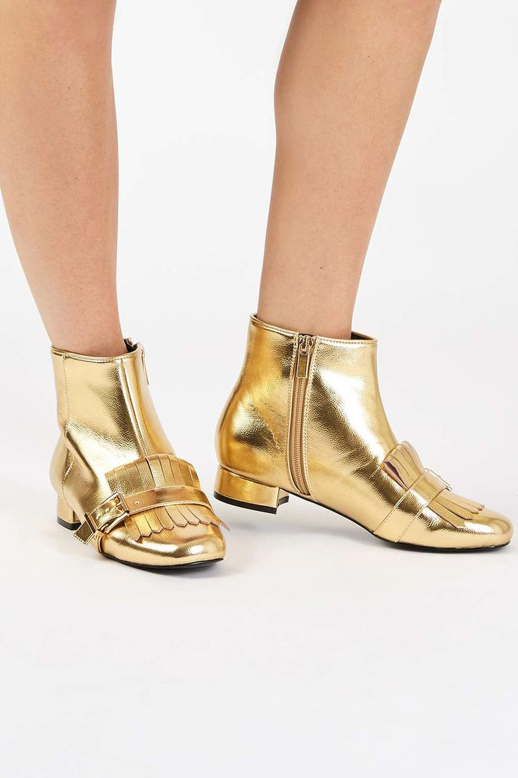 KARAMEL Loafer Boots: gold ! Stivaletti mocassino color oro