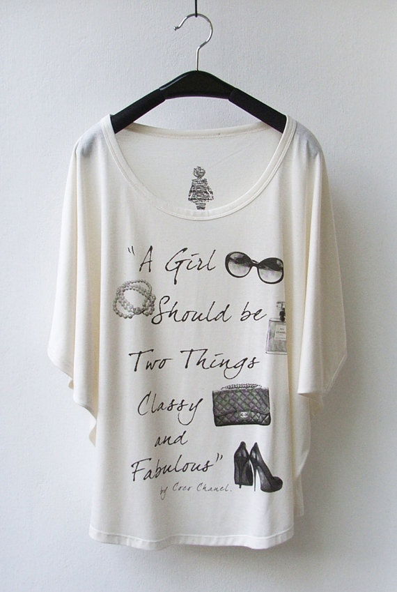 I have loved Chanel since I was a child; this t-shirt is so me!