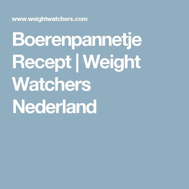 Boerenpannetje Recept | Weight Watchers Nederland