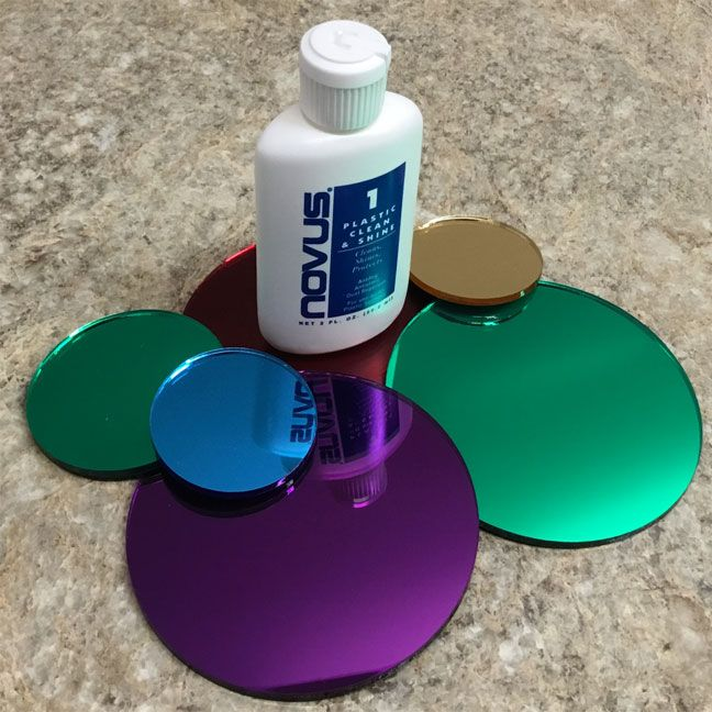 Our acrylic disks are custom made from our cast acrylic sheet. We laser cut the sheets into the disk shape with our state of the art precision laser. The laser creates polished edges and perfect cuts.