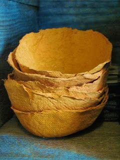 paper bowls from egg cartons diy instructions YUNIKO STUDIO: PROJECTS
