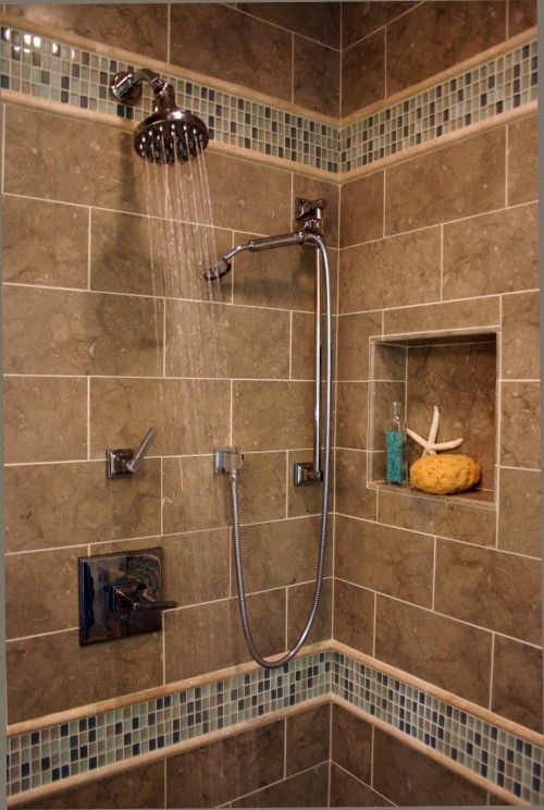 1000 images about shower niche ideas on pinterest for Pictures of bathroom tile designs