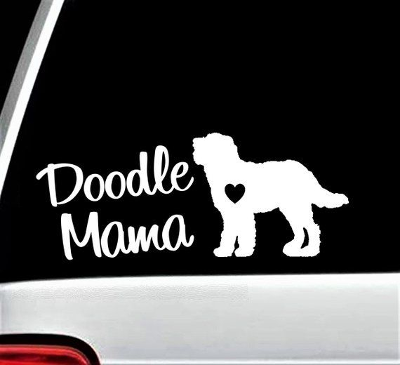 Doodle Mama Decal Sticker for Car Window Labradoodle 8 Inch BG 158 ... c0ba4d318c