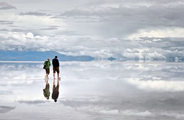 Salar de Uyuni, Bolivia – Located in the Department of Potosi in southwest Bolivia, near the top of the Andes, at 3.650 meters above sea level. It is roughly 25 times the size of Bonneville Salt Flats in th...