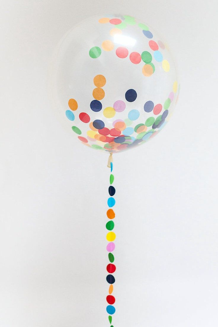 25 best ideas about clear balloons on pinterest glitter for Baby confetti decoration