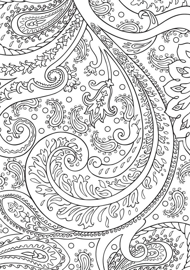 BLISS Paisley Coloring Book YOUR PASSPORT TO CALM By Marty Noble Kelly A