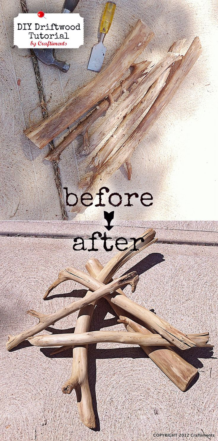 HOW TO faux driftwood