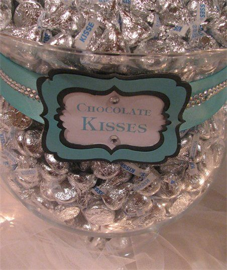 Tiffany Themed Wedding - Candy and Dessert Buffet