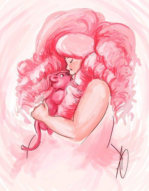 steven universe rose quartz and lion this is really sweet i like to think that lion either. Black Bedroom Furniture Sets. Home Design Ideas