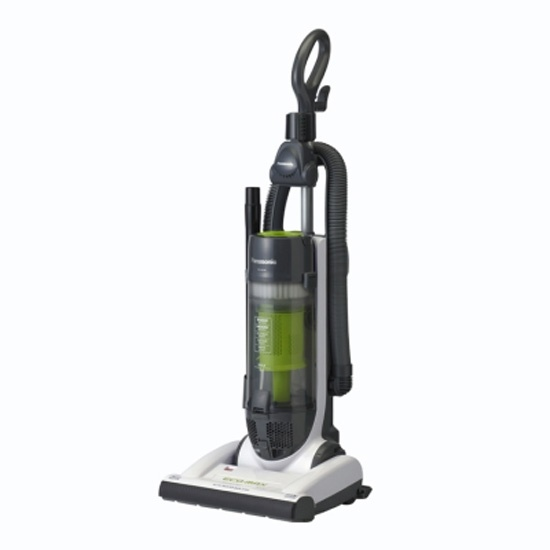 This Panasonic Bagless Upright Eco Vacuum Cleaner features an Eco-Max motor, designed to save you costs on energy.  Added bonus: Many reviewers say this model cleans better than a traditional vacuum!
