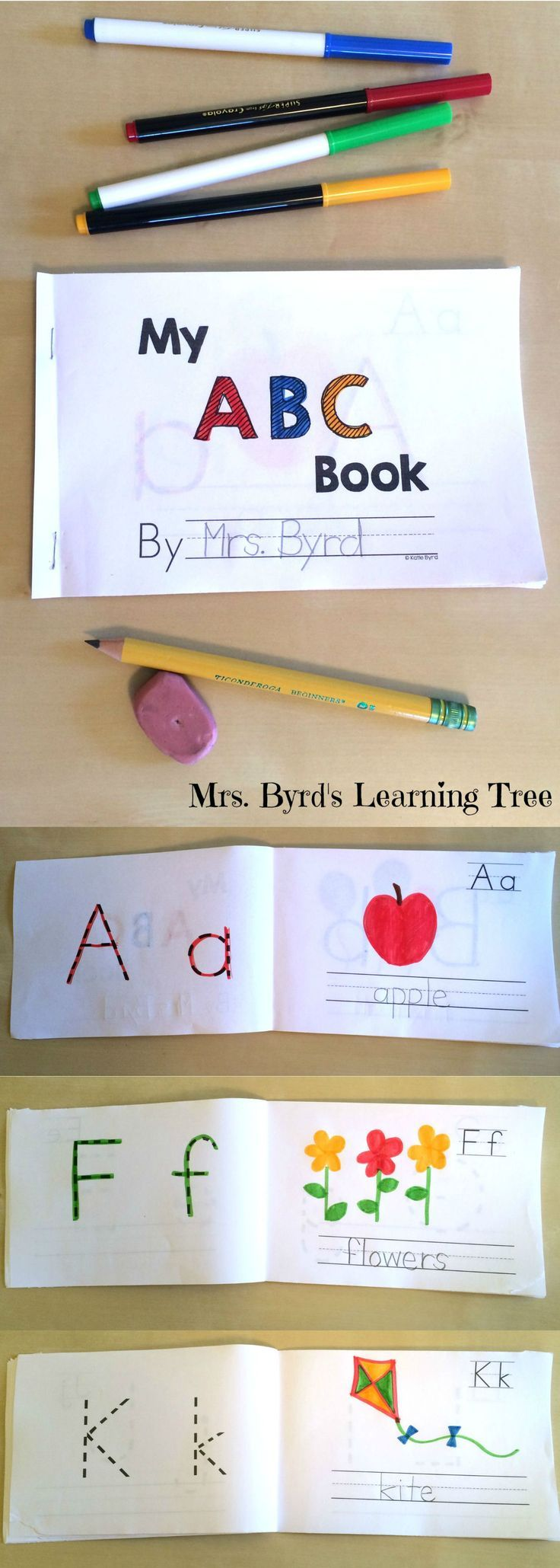 When kids make their very own ABC book that they can actually read, they learn letters and sounds fast! This student made emergent reader is the perfect way to learn letters while learning to read. Perfect addition to any kindergarten literacy program. Happy teaching! $