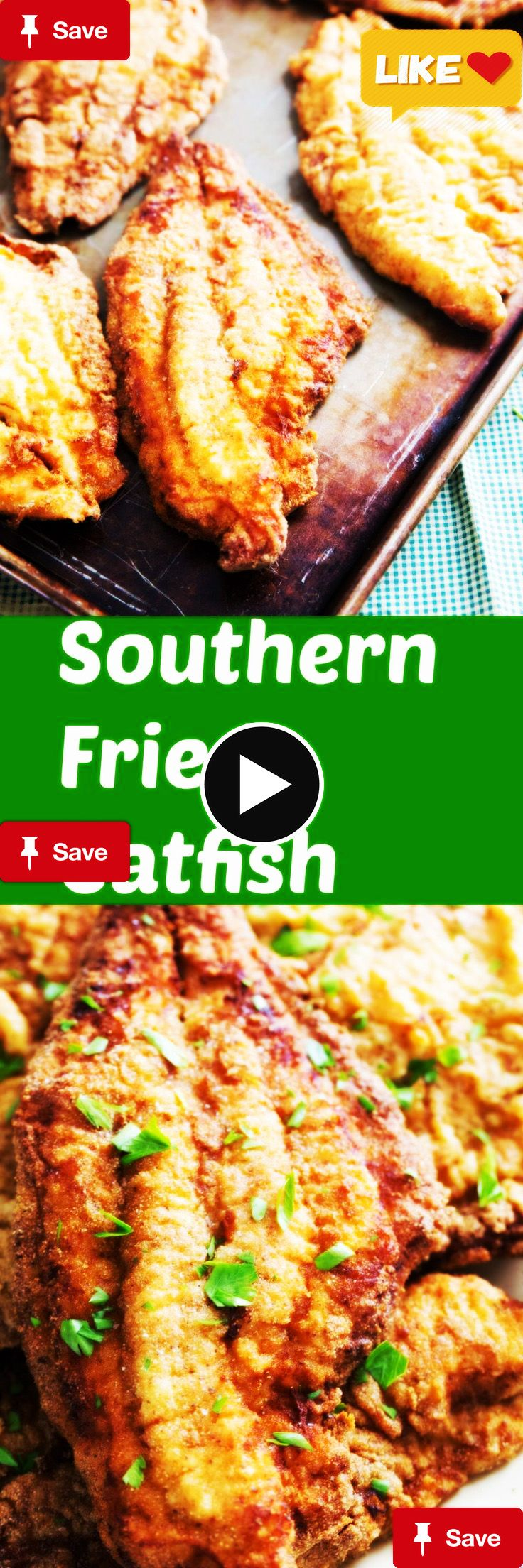 Who loves fried catfish? This southern fried catfish technique meets all the requirements of a good catfish recipe! It is breaded for crispiness and has just the right amount of seasoning! You are going to love it! via @Lemonsforlulu