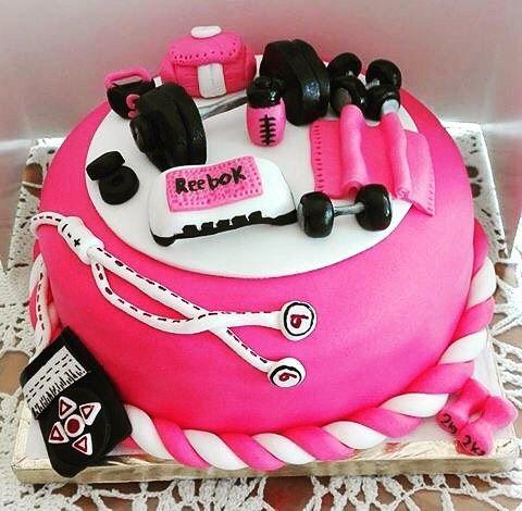 Design Of Gym Cake : #gym #cakes #creamy #vanilla #chocolate #workout #reebok # ...