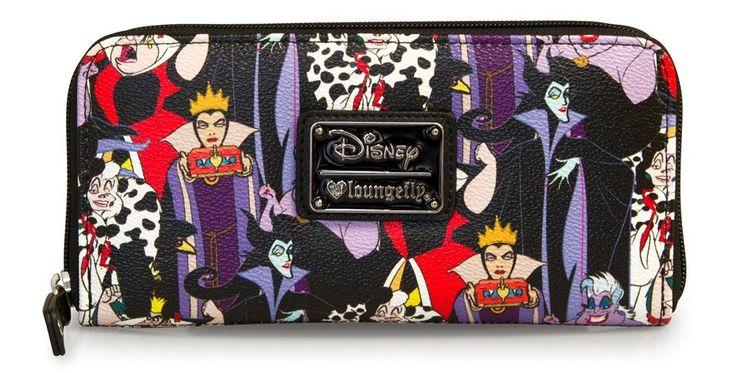 Loungefly Disney Female Villains Evil Queen Maleficent Cruella Wallet – moodswingsonthenet