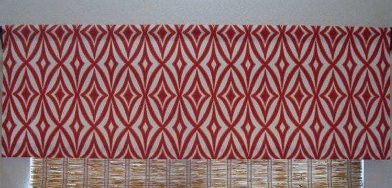 Waverly Modern Ikat Valance Kitchen Curtain Waverly Curtain 52x12 52x14 52x16  52x18