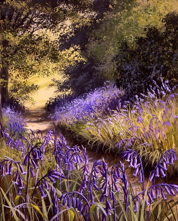 Mary Dipnall —  Bluebell Path (489x605)