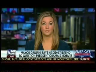 """Fox's Katie Pavlich Echoes Giuliani: Obama Has A """"Blame America First"""" Approach Pavlich: """"President Obama's Career Was Started By People Who Bombed The Pentagon"""""""