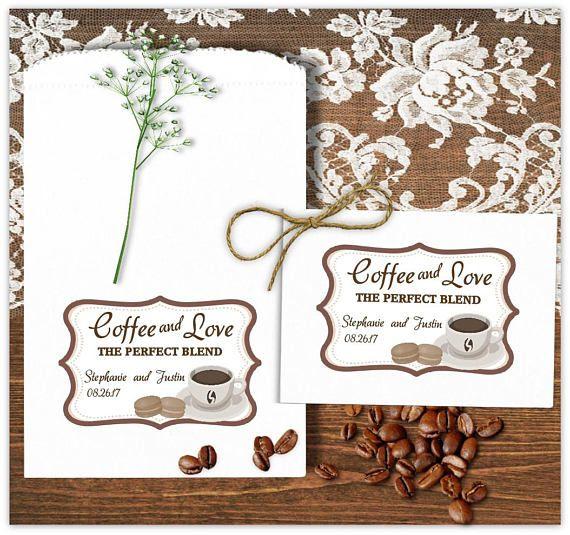 Wedding Coffee Bags - Wedding Favors - Coffee Favors - Bridal Shower Favors - Anniversary Favors - Engagement Favors - Coffee Love - rustic wedding ideas - bridal shower ideas - anniversary party ideas