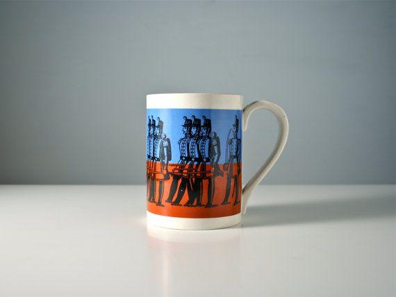 Retro Portmeirion large coffee mug or tankard. by AnEyeOnStyle