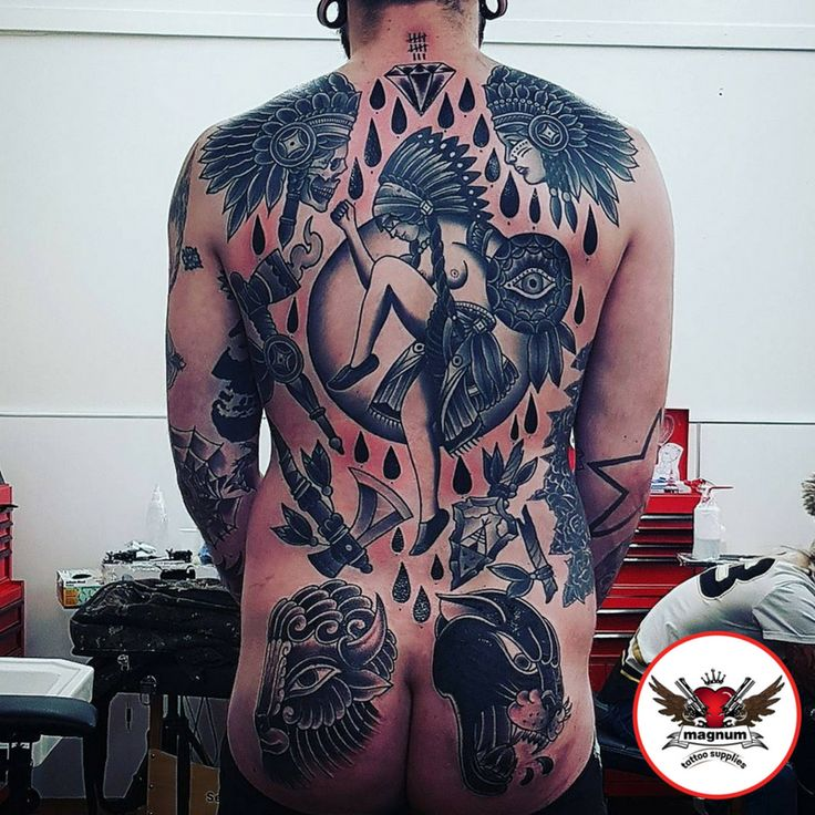 Incredible back piece using #magnumtattoosupplies