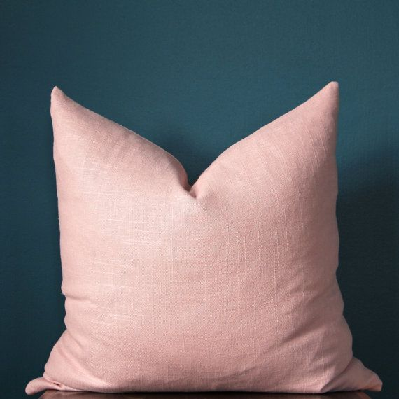 Blush Pink Pillow Cover - Rose Quartz Pillow Cover - Pale Pink Pillow - Designer Pillows - Linen Pillow Cover- Trendy Pillow Cover - Blush Nursery -