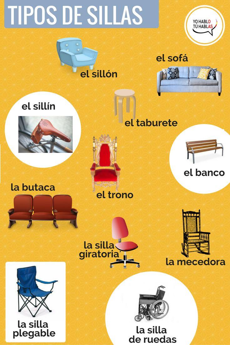 tipos de sillas #learnspanishwords