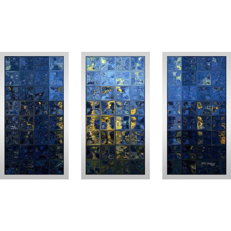 """FramedCanvasArt.com Mark Lawrence """"Mediterranean Max"""" Framed Plexiglass Wall Art Set of 3"""