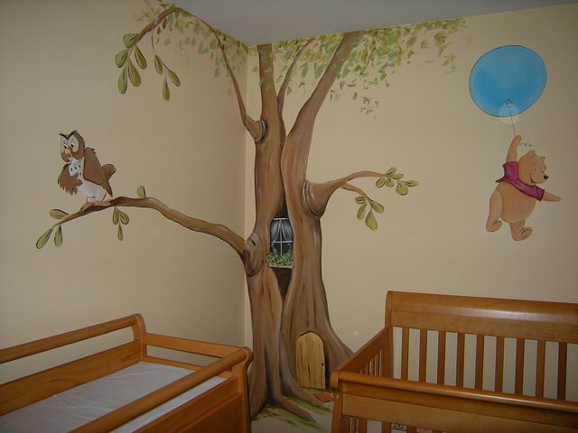 17 best ideas about nursery tree mural 2017 on pinterest for Classic pooh nursery mural
