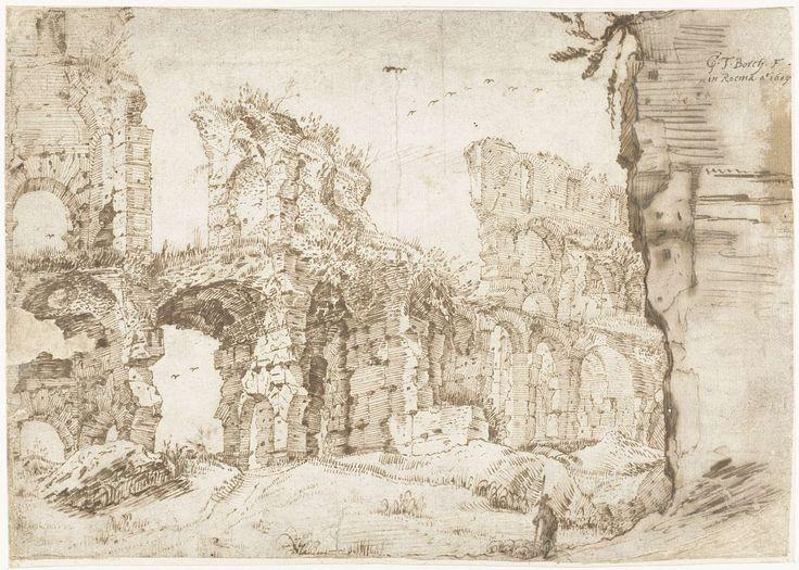 Gerard ter Borch (I) | De ruïnes van het Colosseum, van binnen gezien, Rome, Gerard ter Borch (I), 1609 |