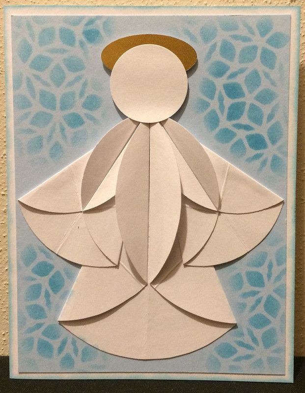 DD8ABC4D DD7ABC26A dahlia fold angel by lacyquilter.  (Pin#1: Angels... Pin+: Punch Art: Misc.; Christmas: Punch Art).