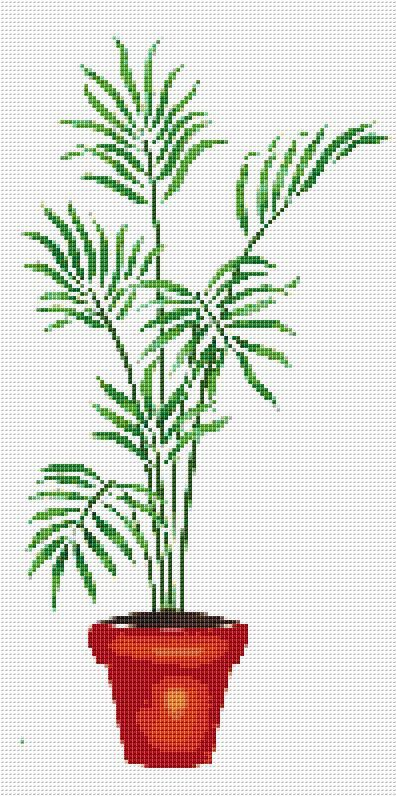 Potted Palm Counted Cross Stitch Pattern Chart DOWNLOAD PDF PATTERN ONLY! Fabric: 14 count Aida Counted Cross Stitch Stitches: 99 x 199 Size: 7.07 x 14.21 inches or 17.96 x 36.10 cm Colours: DMC Count:63 Stencil XSTCH-00297 You will receive this pattern as a digital download and will need Adobe Acrobat to view it. Adobe Acrobat Reader can be downloaded at www.adobe.com. All patterns are computer generated and you are receiving the pattern only. You are not ...