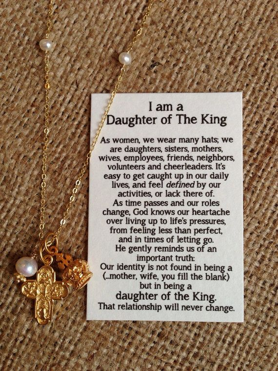Daughter of the King- handout with table favor idea