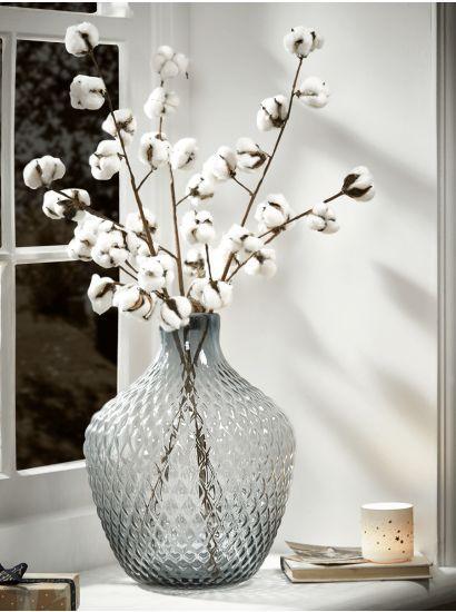 Three Cotton Stems,  #Cotton #Stems – Vase İdeen