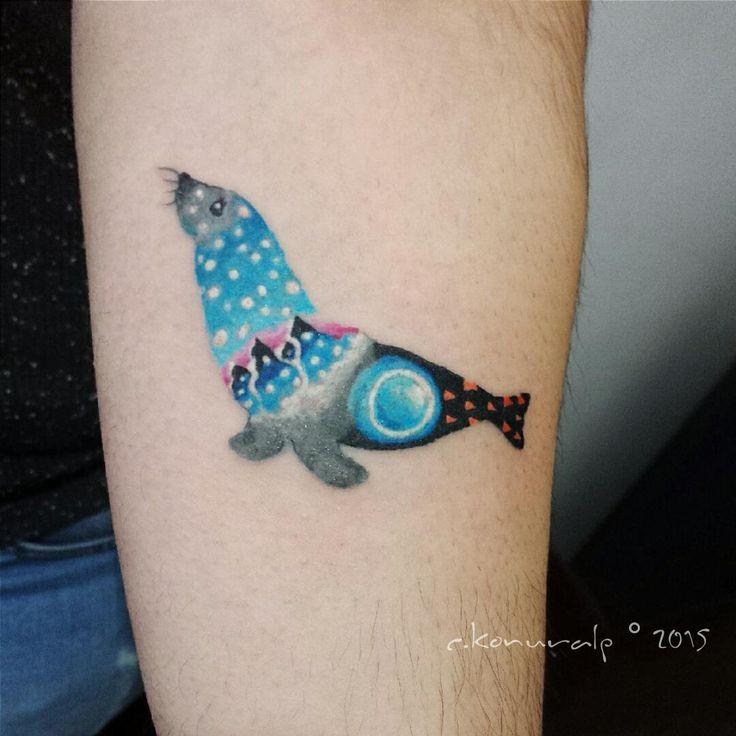 Cansın Konuralp / custom seal tattoo. #tattoo #seal #ink #watercolor #cansınko…   – Tattoos