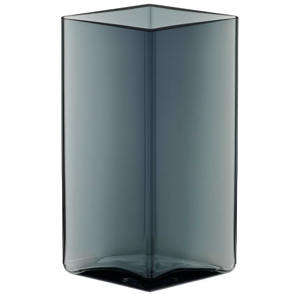 Ruutu vase 115x180 mm, grey, by Iittala. Design by Ronan and Erwan Bouroullec.