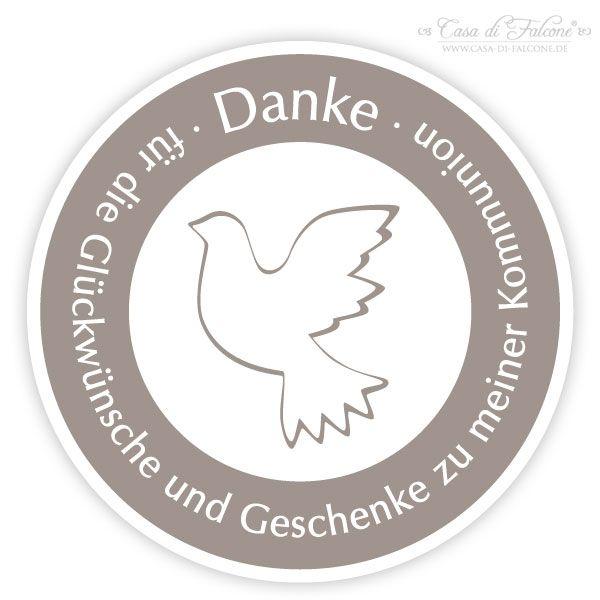 Kommunion Aufkleber Taube: Individuelle Aufkleber mit Taube zur Kommunion oder Konfirmation - für die persönlichen Dankekarten, für kleine Gastgeschenke ... ♥ ...